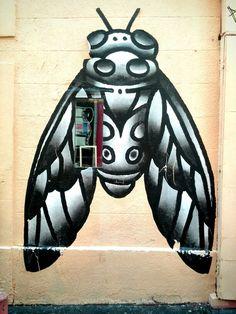 Baze - street art - Marseille 6, rue pastoret (aout 2014)