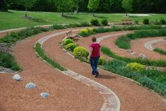 Heather_walking_labyrinth
