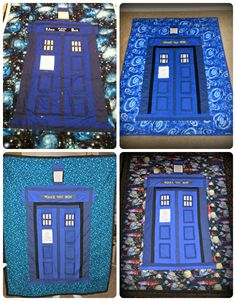 All the Tardis quilts I have made so far.
