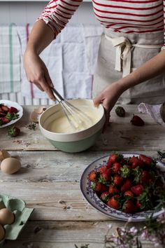 Ricotta Ice Cream With Balsamic Strawberries | A Cup of Jo