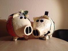 Briefbox -Kartenbox - Sparschwein - Bauernhochzeit - Gärtner - Hochzeitspaar - Ideal als Kartenbox für Bauernhochzeiten bzw. Dorfhochzeiten ! ©by Ramona Meyburg