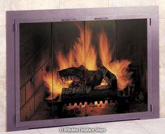 Fireplace Glass Doors, Santa Fe Plaza, Door Tags, Hermosa Beach, Fireplace Accessories, Custom Glass, Steel Doors, Pacific Coast, Charleston