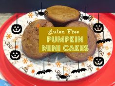 Grain Free Pumpkin min-cakes without frosting Paleo Pumpkin Recipes, Paleo Pumpkin Muffins, Pumpkin Cupcakes, Gluten Free Pumpkin, Raw Food Recipes, Dessert Recipes, Baking Muffins, Fall Recipes, Wheat Free Recipes