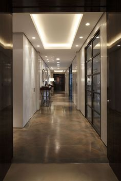 Kensington Place by Casa Forma - Hallway High Ceiling Lighting, Cove Lighting, Stair Lighting, Hallway Lighting, Porch Lighting, Interior Lighting, Lighting Design, Ceiling Lights, Entrance Lighting