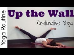10 minute up the wall Restorative Yoga for Relaxation & flexibility routine. Great yoga for beginners, all you need is a wall! 💙 Get the HIPS SLOW STRETCH: h. Flexibility Routine, Yoga Routine, Prenatal Yoga, Restorative Yoga, Yin Yoga, Yoga Meditation, Relaxing Yoga, Sore Muscles, Yoga Lifestyle