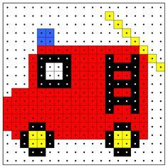 KleuterDigitaal - wb kralenplank brandweerauto 01