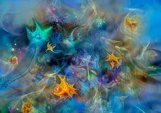'Aqua+Fantasie'+von+Natalia+Rudzina+bei+artflakes.com+als+Poster+oder+Kunstdruck+$16.63