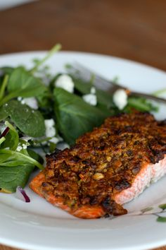 Grapefruit and Pistachio Crusted Baked Salmon | Aggies Kitchen