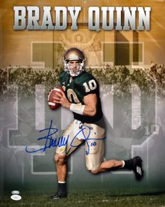 Brady Quinn Signed 16x20 Photo - JSA #SportsMemorabilia #NotreDameFightingIrish