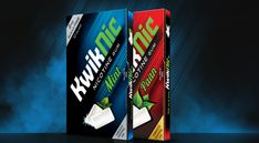 Introducing Kwiknic, a tasty Nicotine Chewing Gum in a handy blister pack which comes in two flavors' that you can pop on the go.
