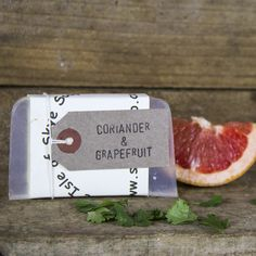 Grapefruit and coriander: our new brilliant and fresh soap.  Try it!