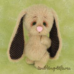Bunny Melancholy - Amigurumi Crochet Doll Pattern PDF file by Anna Sadovskaya Crochet Doll Pattern, Crochet Dolls, Crochet Patterns, Amigurumi Patterns, Doll Patterns, Amigurumi Toys, Thick Yarn, Cute Crochet, Learn To Crochet