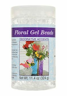 Floral gel beads