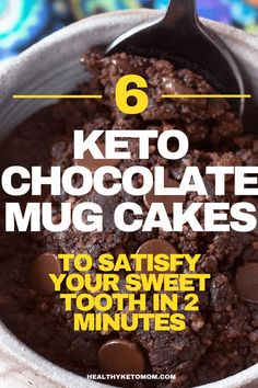 Are you craving something sweet and chocolatey like right now?! Try one of these delicious and easy keto chocolate mug cake recipes to curb your hunger for something sweet and absolutely delicious right now. All of these mug cakes are low carb and won't break your ketogenic diet! They also can be made in a microwave. #ketomugcake #ketolavacake #keto #lowcarbmugcake #chocolatemugcake #ketodesserts