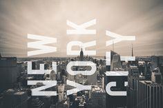 New York City Skyline and Text  by Amber Ryan Photo on @creativemarket