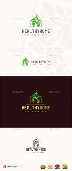 Healthy Home  Logo Design Template Vector #logotype Download it here:  http://graphicriver.net/item/healthy-home-logo/9980533?s_rank=1744?ref=nexion