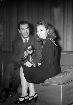 Robert Taylor and wife Barbara Stanwyck