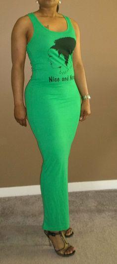 Natural+Hair+Tank+Maxi++Dress+by+Rockthatnatural+on+Etsy,+$30.00