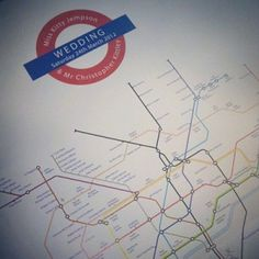 London Underground Wedding Table Plan
