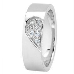 Matching wedding bands. His is the other half of the heart but with out diamonds.   NEW WEDDING BAND