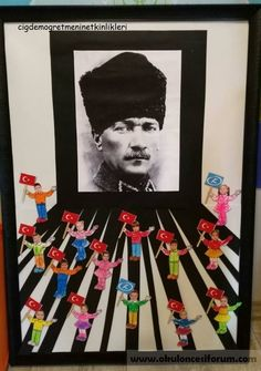 Atatürk project work - New Deko Sites Christmas Door Decorations, School Decorations, Preschool Art, Preschool Activities, International Children's Day, Diy And Crafts, Crafts For Kids, Reading Themes, Act For Kids