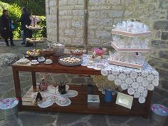 Candy table!!! Candy Table, All White, Tray, Home Decor, Candy Stations, Decoration Home, Room Decor, Trays, Home Interior Design