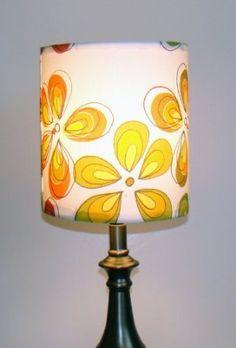 Amazon.com: Finn Fab Designs Retro Flowers Lamp Shade: Lamps & Light Fixtures