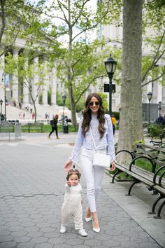 Arielle Charnas of Something Navy celebrates Mother's Day in the PEEKABOW Pump