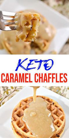 {Keto Chaffles} Tasty & easy low carb keto chaffle recipe. Quick & yummy caramel chaffle for simple keto breakfast, snack, keto desserts, keto lunch or keto dinner. Learn how to make keto chaffles w/ these easy ketogenic diet recipe - caramel chaffles. Skip the fast food, take out or delivery & make this homemade low carb keto chaffle idea - keto caramel #chaffle. Check out this favorite keto food recipe :) #lowcarbrecipe