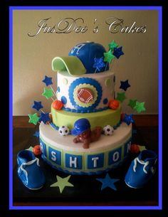Baby Shower Sports, Sport Theme, Shower Cakes, Baby Shower, Baby Ideas,  Awesome Cakes, Shower Ideas, Maternity, Cupcakes