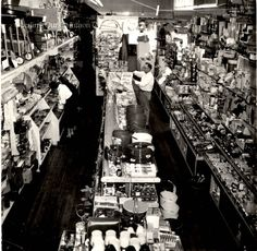 ID#:0063 Date:1960s. Interior of the Watson's Hardware with its large inventory during the ownership of Jim and Barbara Molyneaux. Participant:Barbara Molyneaux. Additional Sources Used For History:O.H.I.O. Resource Center: Fred Maddock files., Historic Preservation Commission, Survey 1998, City Directories;Internet correspondence from Jim Molyneaux, 01/16/01. Interview with Jim and Barbara Molyneaux, 6/00. Interview with Glenn Molyneaux, 6/00; Interview with Pat Stetson, 01/01 1960s Interior, Ohio, The Past, Interview, Hardware, Community, History, City, Image