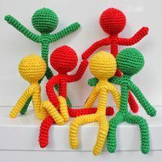 Mensen haken   draadenpapier   Gratis patroon #crochet #people #man