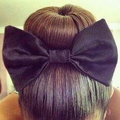 sock bun with bow