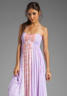so pretty!! TIARE HAWAII Seaside Maxi Dress in Violet/Peach
