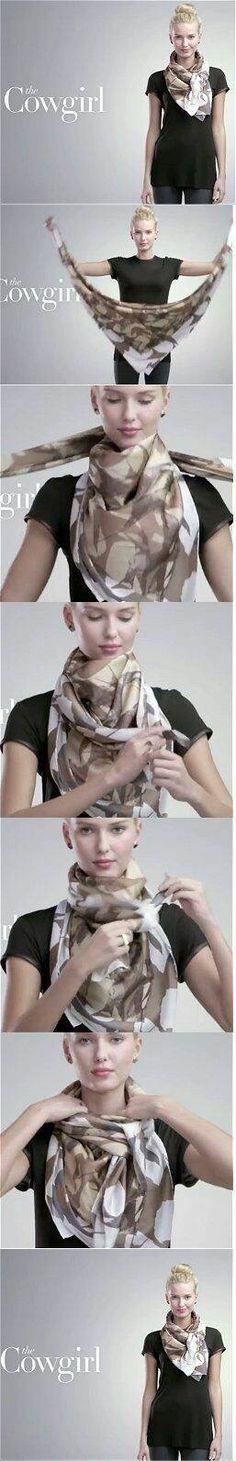 Como llevar el pañuelo al mejor estilo cowboy. #pañuelo #foulard #moda