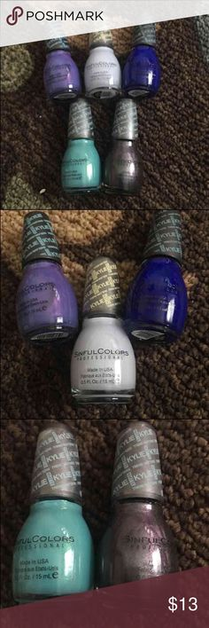 Kylie sinful colors polish #4 5 different matte polishes all new.. purple kraze, konstellation, kold kash, magik touch and kosmos.. Accessories Gloves & Mittens