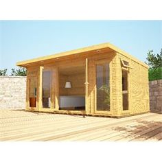 traditional Garden room Check out this x Waltons Insulated Garden Room. Garden Buildings, Garden Structures, Outdoor Structures, Insulated Garden Room, Garden Log Cabins, Cool Sheds, Wal, Tiny House Design, Logs