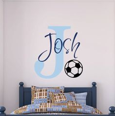 Vinyl Decal Wall Art Soccer Monogram With by PlayOnWalls on Etsy, $41.00