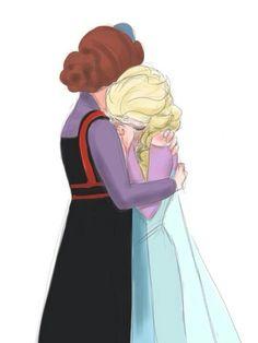 Elsa and her mother (disney princess drawings elsa) Frozen Love, Frozen Fan Art, Frozen And Tangled, Elsa Frozen, Disney Frozen, Frozen Anime, Disney Princess Drawings, Disney Drawings, Jelsa