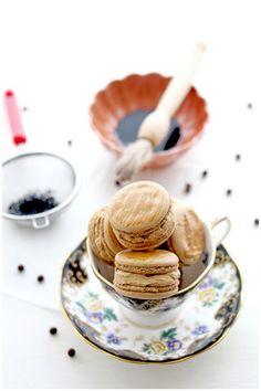 Espresso macaron with salted caramel