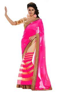 New Latest PinkPatta Georgette Saree  #designersaree #indiansaree #saree