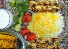 Joojeh kabab is a simple, easy to make and popular dish in Iran and is most delicious when made with fresh and tender young chicken. Joo...
