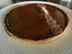TARTE CHOCO d'Olivier Bajard (pâte sablée, biscuit au chocolat, ganache chocolat/miel/crème)