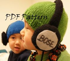 Every kid needs a Stereostyle Hat! Dress your favorite little guy or girl in this adorable faux headphone hat and keep his/her head warm while you're at it! This hat has some serious style..: jkwdesigns at Etsy