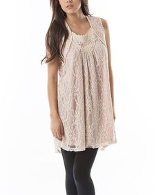 Another great find on #zulily! Rose Lace-Embroidered Swing Tunic - Women #zulilyfinds