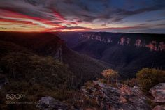 Grose Valley Sunset by intrepidphotos  trees forest mountains river rock bush valley australia lookdown cliffs sandstone wilderness new sou
