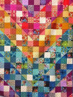 Freshly Pieced Modern Quilt