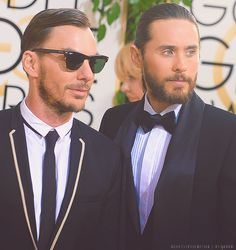 Jared Leto & Shannon Leto at The 2014 Golden Globes.