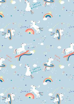 unicorns and rainbows design Unicornios Wallpaper, Wallpaper Iphone Cute, Cellphone Wallpaper, Pattern Wallpaper, Cute Wallpapers, Wallpaper Backgrounds, Kids Patterns, Print Patterns, Unicorn Illustration