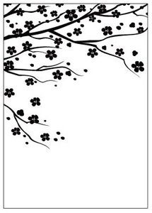 Gina Marie Embossing Folder A2 - Cherry Blossom